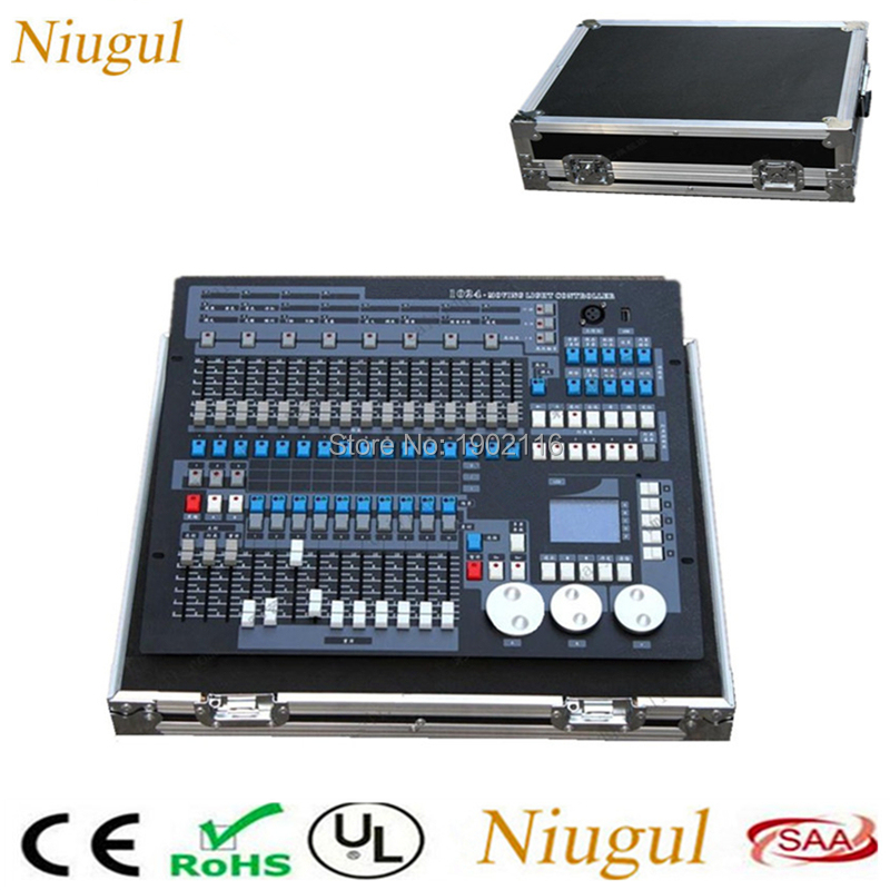 1024 Channels DMX Lighting Consoles Professional Stage Light Controller Bar DJ Disco Equipment DMX controller With Flight Case high quality ma controller ma onpc commond wing dmx lighting console 1536 channels with flight case