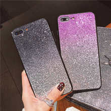 Gradient glitter Bling Case For iphone X XR XS Max Back cover Case Silicone For iPhone 6 6s 7 8 Plus 5 5S SE Phone cases coque цена и фото