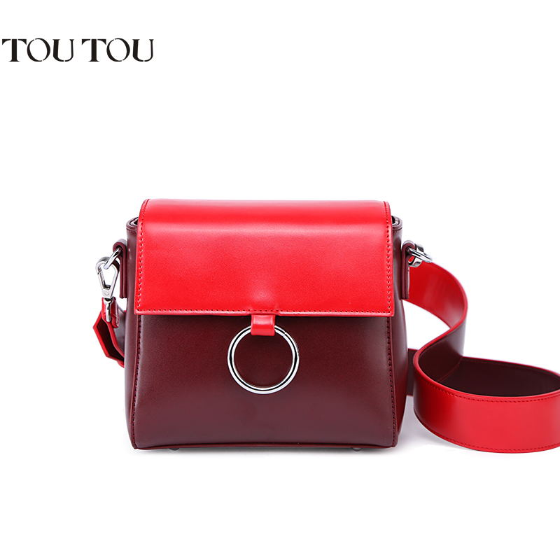 TOUTOU bags 2018 new female bag fashionable wide straps color ring small square bump one shoulder inclined shoulder bag mini bag annke 10pcs bnc female to female inline coupler coax bnc connector extender for cctv camera security video surveillance system
