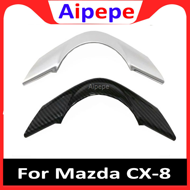 Car Styling Accessories ABS Chrome Car Interior Steering Wheel Sequins Trim For <font><b>Mazda</b></font> <font><b>CX</b></font>-8 <font><b>CX</b></font>-<font><b>9</b></font> <font><b>2017</b></font> 2018 <font><b>2019</b></font> image