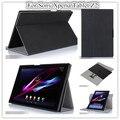 Лучший Дизайн Tablet z2 Tablet Кожаный Чехол Для Sony Xperia Tablet Z2 Tablet Обложка Чехол подарочные защитные пленки