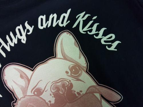 Mens Cool Tops Short Sleeve Frenchie T-Shirt Schwarz- Hund,Dog,French Bulldog,Franzosische Bulldogge,Mugshot