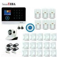 Smartyiba 2.4 г Wi Fi IP Камера Главная охранной Системы GSM SMS alarmes дым/Fire дверь Сенсор детектор движения сигнал тревоги Наборы