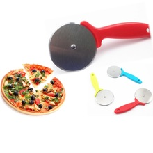 2016 Food Grade Popular Mini Stainless Steel Pizza Cutter Wheel Scissors Cake Rolling Knife Cutting Pastry Baking Tools Bakeware