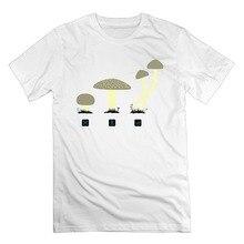 Hot New 2017 Summer Fashion T Shirts Men's Mushrooms Cool Art Cotton Short Sleeve T Shirts