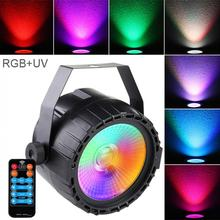 30W 90-240V Mini LED Stage Light Par COB RGB UV Voice Control with DMX512 for DJ Bar Party KTV