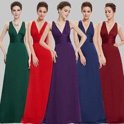 e6297c908 Vestidos de Noche bonito envío rápido 2019 elegante púrpura de satén negro  Sexy V-cuello
