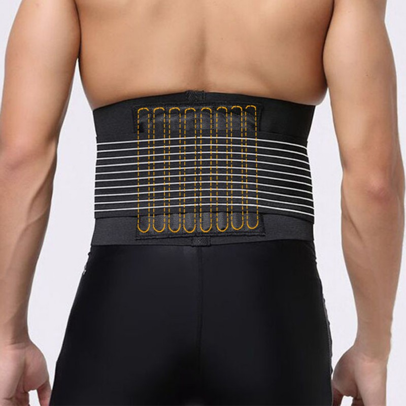 2019 Breathable Back Support Waist Brace Lumbar Lower Belt Strap For Pain Relief
