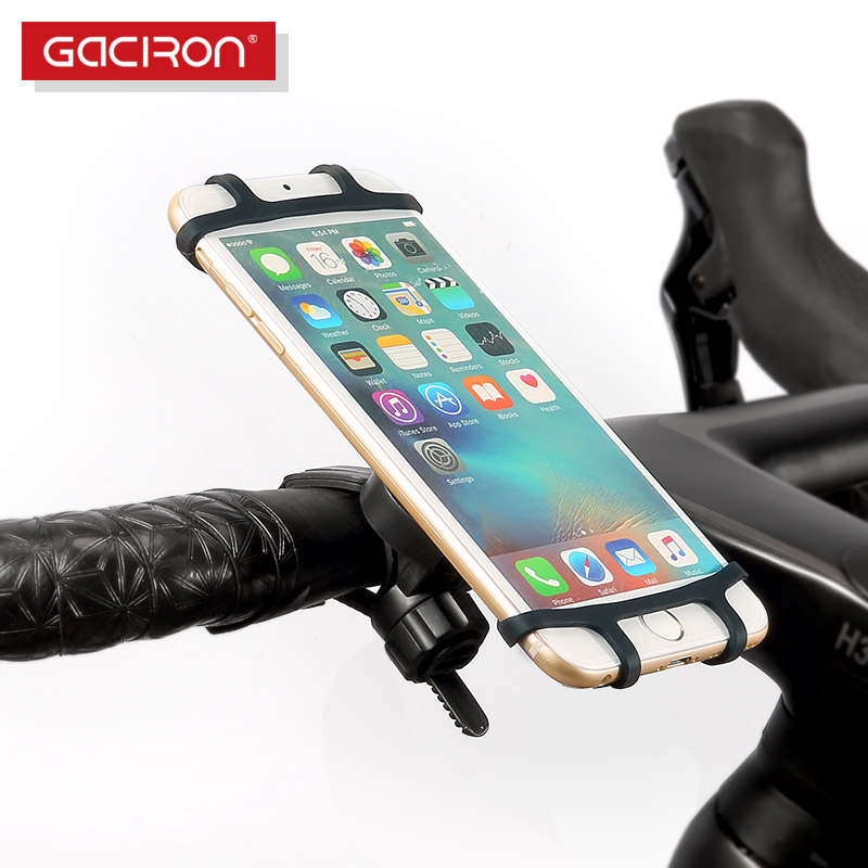 Gaciron Universal Motorcycle Bicycle Phone Holder Mount Bracket With Silicone Protecter For 4.7-6 Inch Phones For IPhone Samsung