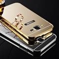 Espelho de luxo case para samsung galaxy s3 s4 s5 s6 metal de alumínio quadro para samsung s6 edge s7 edge nota 2 acrílico tampa traseira