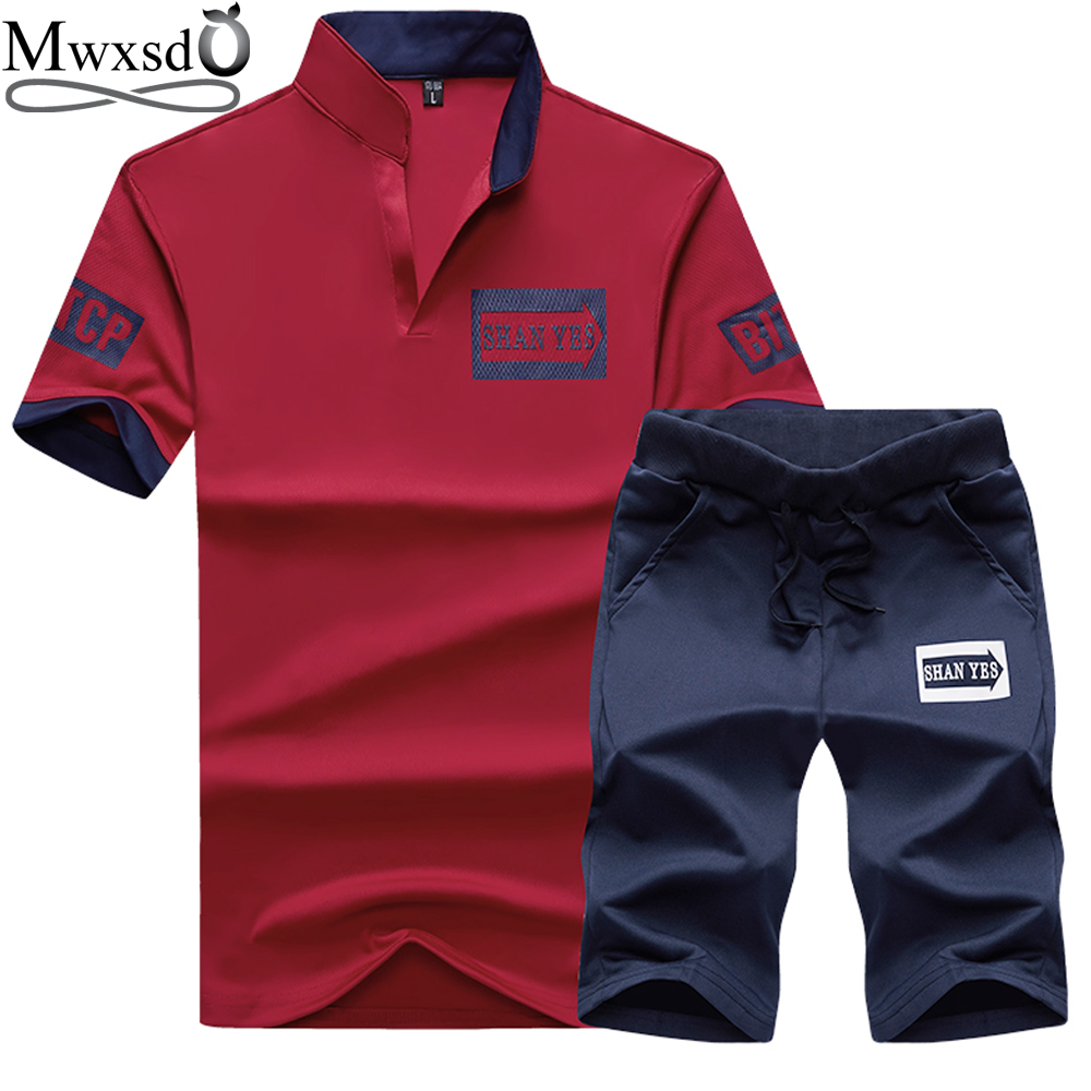 Mwxsd brand men polo shirts 2 pcs set summer male slim fit for Polo brand polo shirts