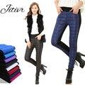 Jitivr Quente 2016 das Mulheres da Moda Fina Para Baixo de Cintura Alta Calças Femininas de Algodão Novo Inverno Quente Leggings Grossas Assentamento Base calças