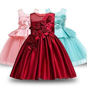 f91b1f238 Bebé niñas vestido desfile flor traje de niños vestidos sin mangas vestidos  para niñas ropa de verano