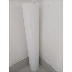 (50cm x 25M/Roll) PU Flex Premium Weiß Farbe Wärme Transfer Papier Vinyl Für Kleidung PU Vinyl Film für T-shirt Eisen auf Vinyl Aufkleber