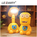 LEDIARY Cartoon Minions Light LED Rechargable Desk Lamp Flexible Length Children Fold Table Lamp 12LED 220V Reading Lamp