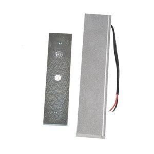 Image 2 - Cerradura electromagnética eléctrica de 12V de una sola puerta 180KG (LB) fuerza de retención para el Control de acceso de plata