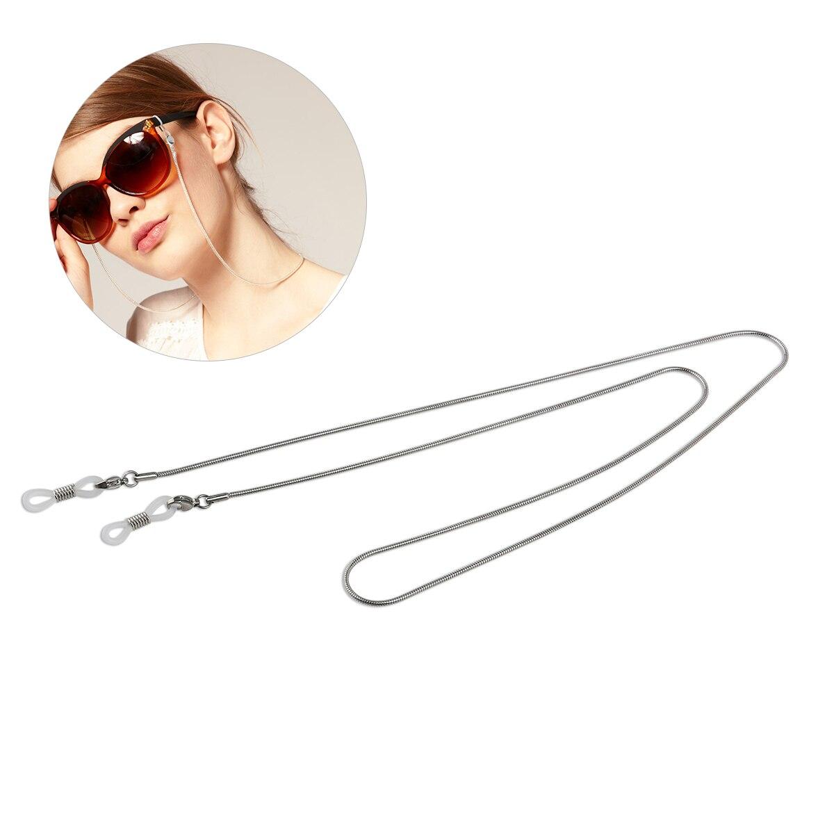 Accessoires silber Herren-brillen Ehrlichkeit 70 Cm Lange Nicht-slip Kupfer Brillen Sonnenbrille Kette Schnur Neck Strap Halter