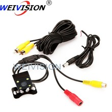 Free shipping Night Vision Color Waterproof  LED View parking back up reversing Camera Universal sony CCD Car Rear view camera