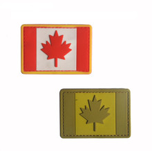Canada Flag Patch 3D PVC  Backpack Bag Jacket Armband Badge Sticker Army Military Fans Patches