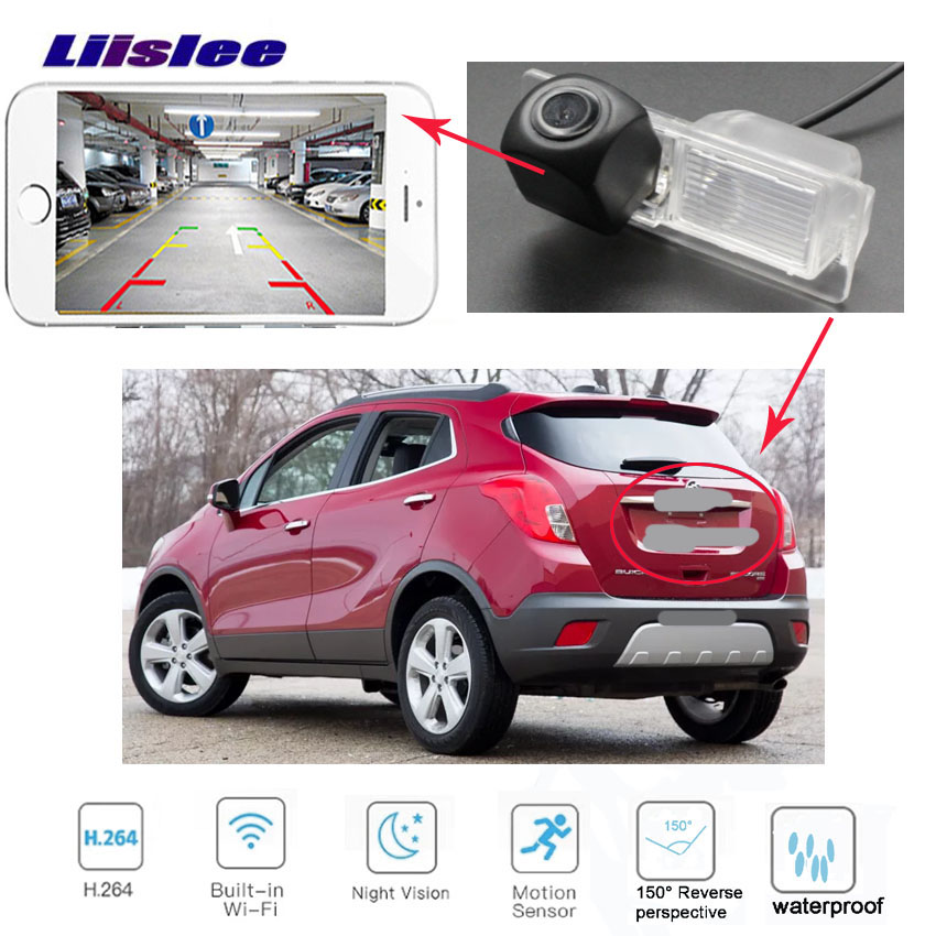 LiisLee Car Rear View Parking Reverse Back Up wireless HD Camera for Buick Encore 2012 2014