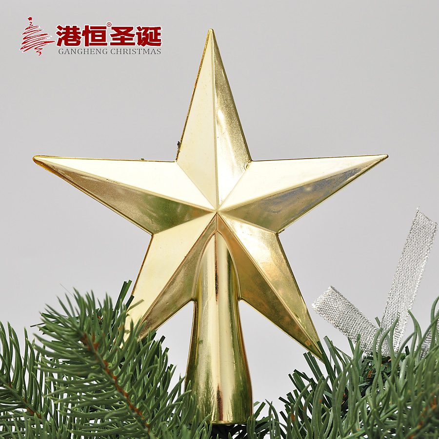 1 Pcs 12cm Golden Stars Treetops of Christmas Tree Toppers Ornaments ...