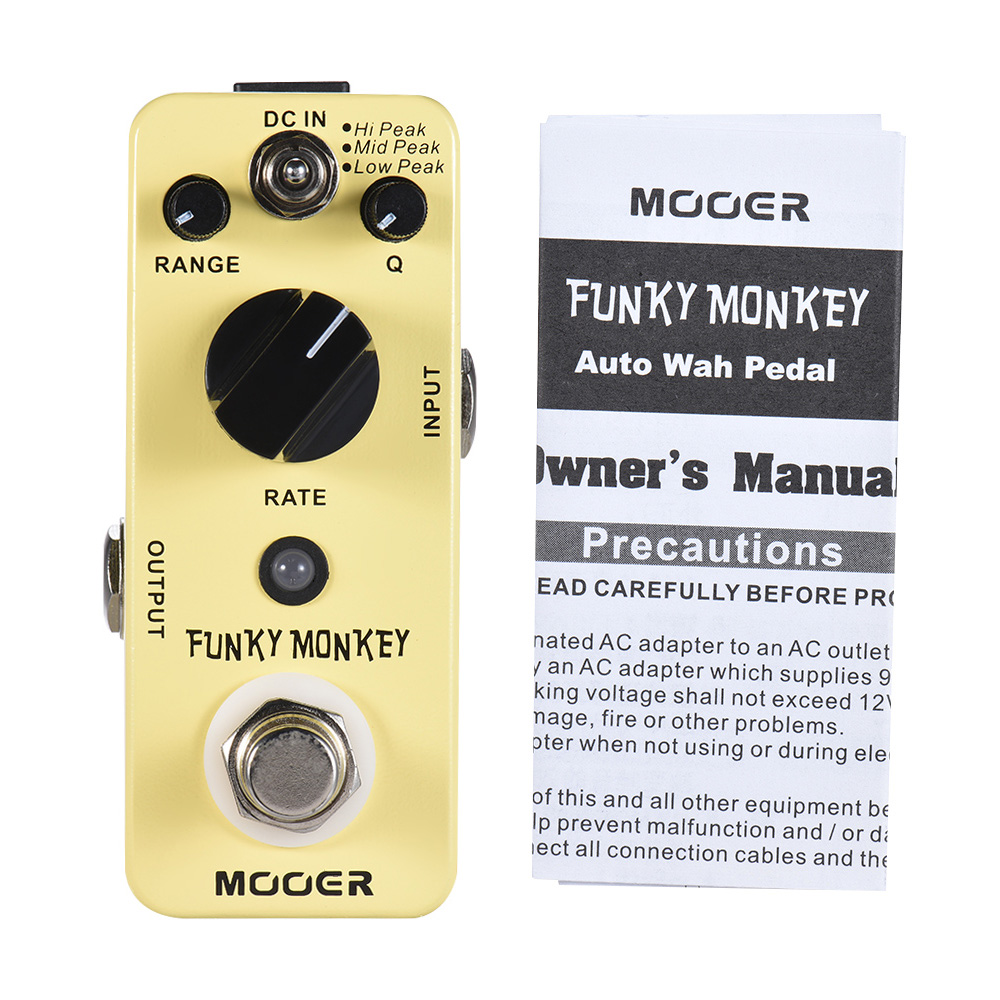 MOOER Funky Monkey Auto Wah Wah Pedal Guitar Effect 3 Peak Modes True Bypass Full Metal Effects Guitar Processor AccessoriesMOOER Funky Monkey Auto Wah Wah Pedal Guitar Effect 3 Peak Modes True Bypass Full Metal Effects Guitar Processor Accessories