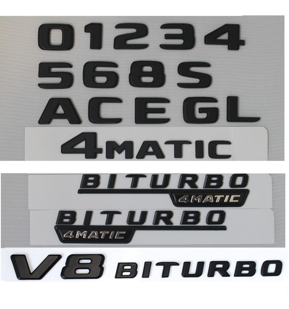 NEW BLACK REAR BOOT LETTER EMBLEM FOR MERCEDES BENZ W117 C117 CLA45 AMG 2014
