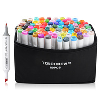 TOUCHNEW 30 40 60 80 Color Dual Head Art Marker Set Alcohol Sketch Markers Pen Cartoon