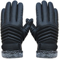 Motorcycle winter gloves PU leather motorbike bike e-bike gloves gants moto outdoors windproof cycling warming gloves 1pair