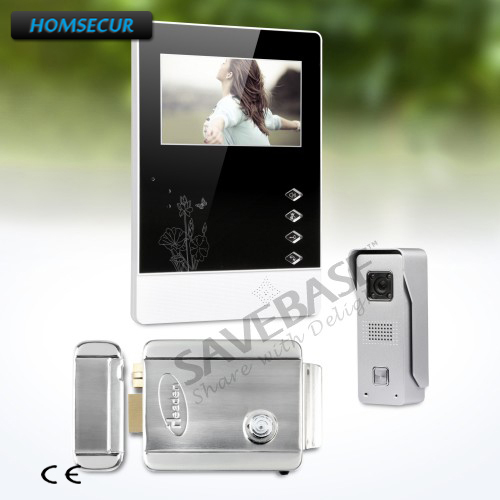 HOMSECUR Russia Logistics 4.3inch Wired Video Door Phone Intercom System+Electric Lock Compatible for Easy Unlocking homsecur 4 3inch wired video door phone intercom system with electric lock delivery from russia