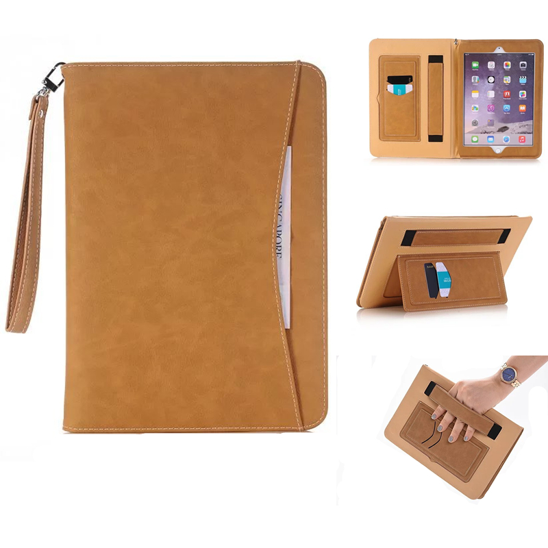купить 2017 Luxury PU Leather Case For Apple iPad Air 2 Air 1 Tablet Case Wallet Smart Cover For iPad 6 iPad 5 iPad Pro 9.7+Stylus Pen недорого