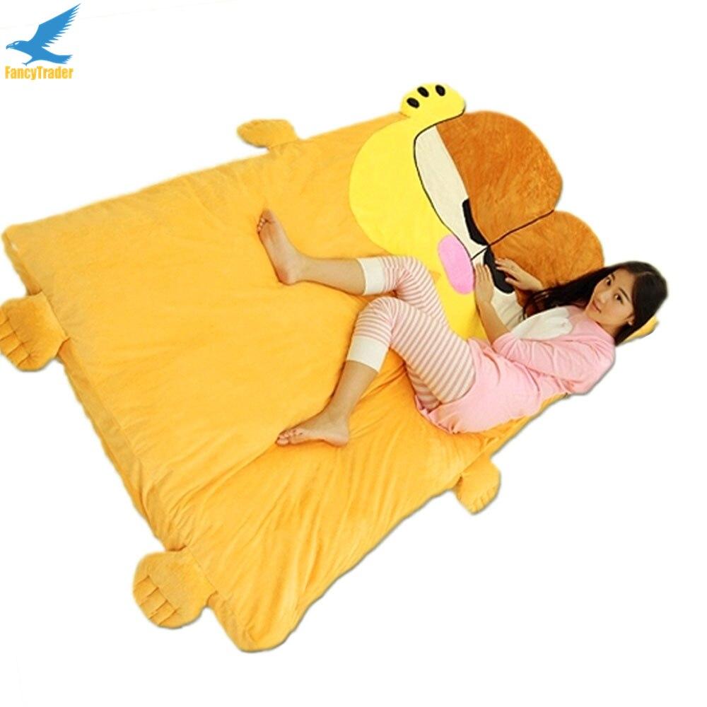 Fancytrader аниме Гарфилд погремушка мягкий гигантский плюшевый Кот кровать ковер диван татами Спящая кровать хороший подарок FT90904
