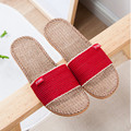 2017 New Fashion Spring Summer Autumn Home Linen Slippers Women Indoor\ Floor Breathable Beach Slides Flat Shoes Girls Gift