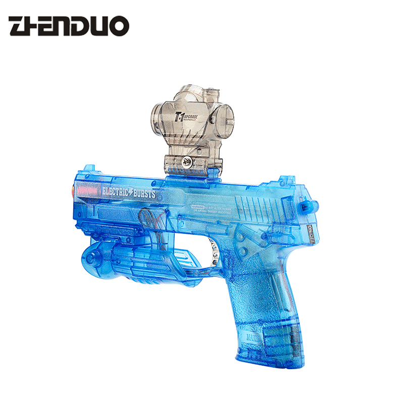 ZhenDuo Fully Automatic Crystal bullets Gun Pistol M92 MK23 Model Gun Toys 3d paper model gun pistol hellboy revolver with bullets firearm oversized model