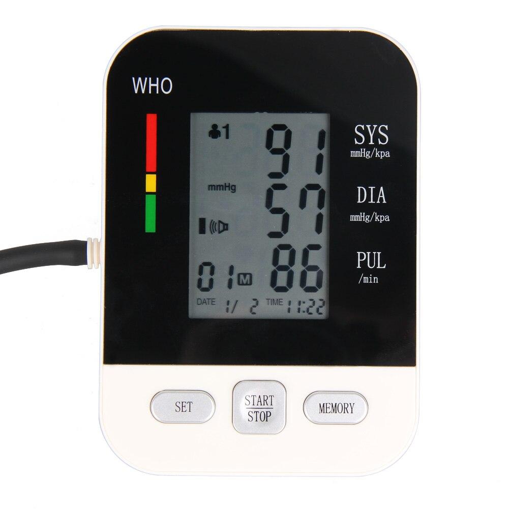 ФОТО Full Automatic Digital Blood Pressure Monitor Pro Upper Arm Cuff Tonometer Hematomanometer Sphygmomanometer Heart Rate Monitor