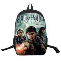 2019 New Women Bags Harry Potter 3D printing Backpack Students School Bag For Teenage Girls Boys Backpacks Rucksack mochila