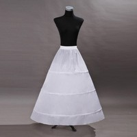 704efc54fcc5 White Underskirt Bridal Petticoat Wedding Dress Prom Skirt Crinoline  Fullness 3 Hoop Wedding Accessories. Branco Nupcial Underskirt Saia  Crinolina Anágua ...