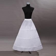 White Underskirt Bridal Petticoat Wedding Dress Prom Skirt Crinoline Fullness 3-Hoop Accessories