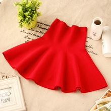 2019 New Girls Spring & Summer Solid Skirts Girls High Waist tutu Skirt