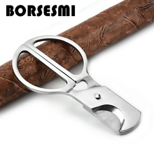 Hot sale handheld stainless steel cigar scissors portable metal cigar cutter knives smoking accessories pocket tools sharp 86mm