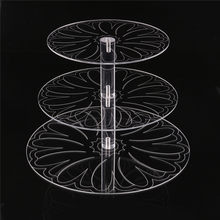 New Round Acrylic 3/4 Tier Cupcake Cake Stand Cake Holder Assemble and Disassemble Home Birthday Tools Wedding Party Stands