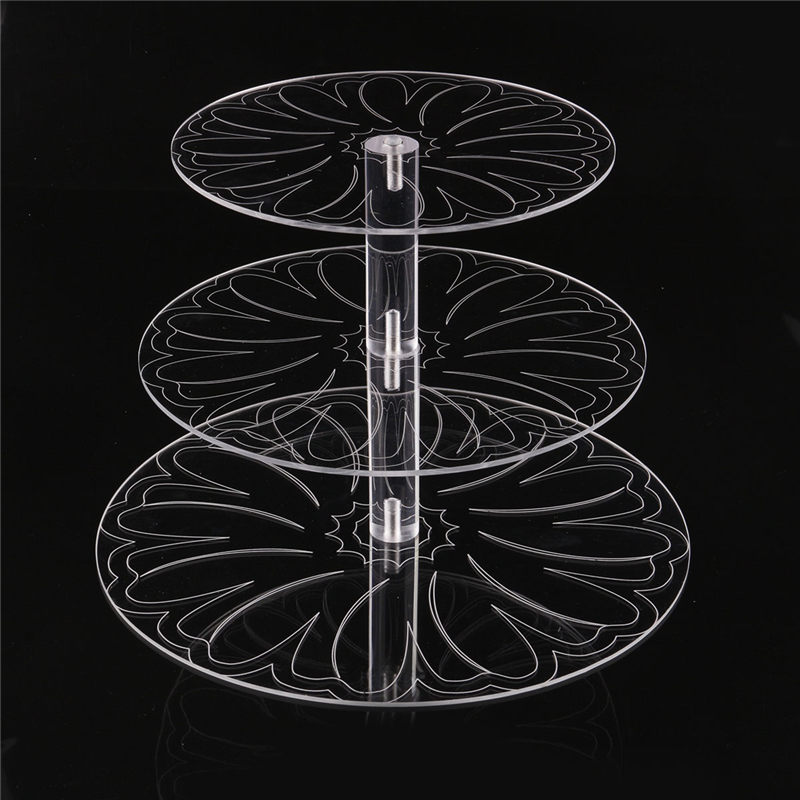 New Round Acrylic 3/4 Tier Cupcake Cake Stand Cake Holder Assemble and Disassemble Home Birthday Tools Wedding Party Stands-in Stands from Home & Garden on AliExpress