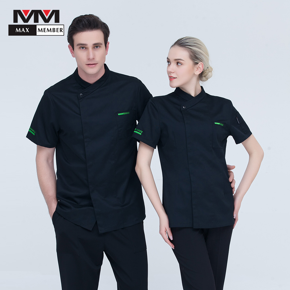 Short Sleeve Summer Chef Workwear Tops Casual Soft Restaurant Hotel Uniforms Kitchen Master Cook Jacket 2018 New Cozinha Clothes