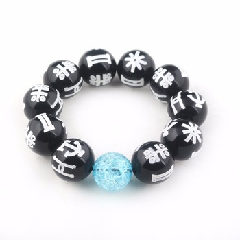 New Fashion Black Panther Wakanda T'Challa KIMOYO Beads Bracelet Black Rune Beads Bracelet With Crystal Beads Men Women Jewelry