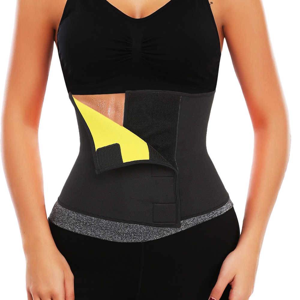 92e4d00cb2f Hot Shapers Sauna Sweat Waist Trainer Belt Neoprene Slimming Thermo Push Up Body  Shaper Waist Cincher