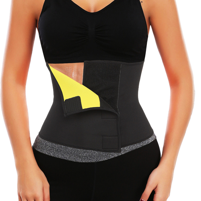 1573e954551 Hot Shapers Sauna Sweat Waist Trainer Belt Neoprene Slimming Thermo Push Up Body  Shaper Waist Cincher Corset Shapewear