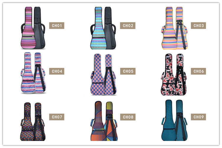 Portable 23 24 Inches Personalized Guitar Ukulele Backpack Bags Small Case Acoustic Concert Lanikai Luna Mahalo Ukues Soft Cover