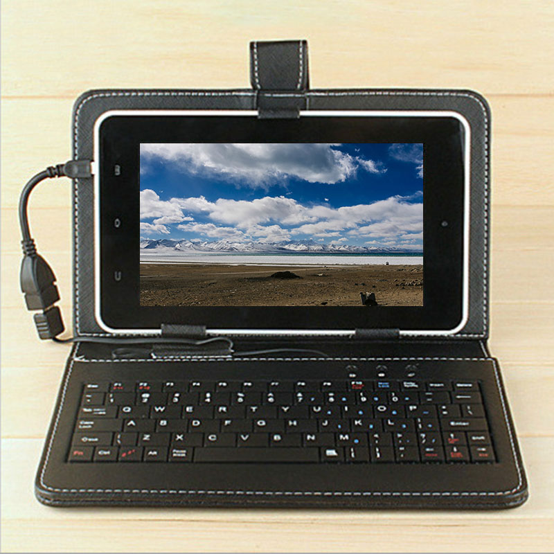7-10.1 Universal Tablet PC phone Keyboard Case cover For Huawei xiaomi Android Micro Port Tablets Micro USB OTG Flip stand Funda universal wired usb keyboard for windows xp window 7 and above androids 3 0 and above keyboard skin cover new arrival