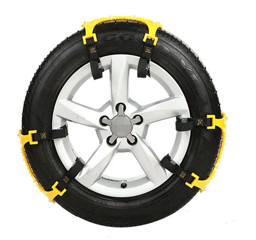 3 pièces universel réglable Double boucles voiture neige pneu anti-dérapant chaîne sécurité chaînes Auto extérieur Snap dérapage roues chaînes - 2