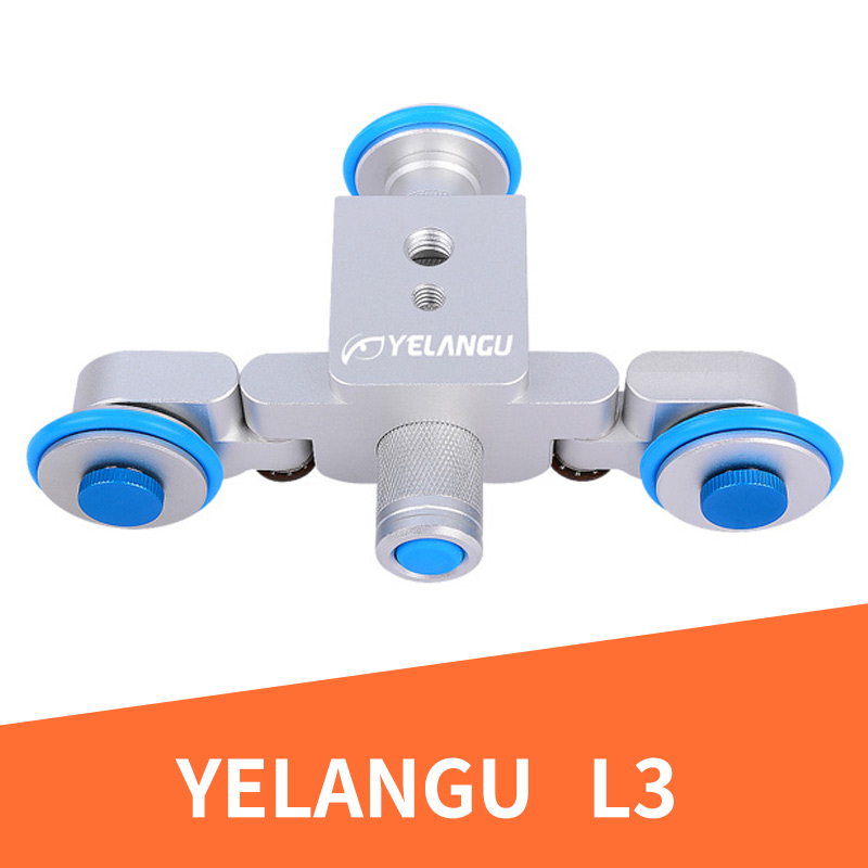 YELANGU L3 intelligent Electric Video Dolly 3-Wheel Pulley Car Track Slider Skater For iPhone Canon Nikon Sony DSLR Ca new flexible electric video dolly 3 wheel pulley car rail rolling track slider skater dolly for canon nikon sony gh4 dslr camera